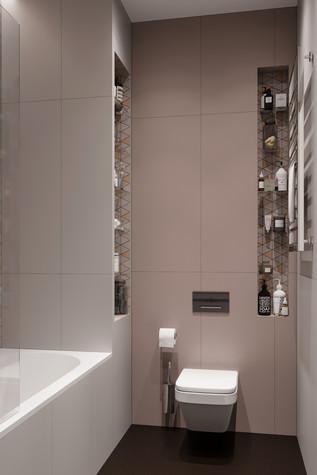 Квартира. ванная из проекта ЖК Сильвер, фото №99749