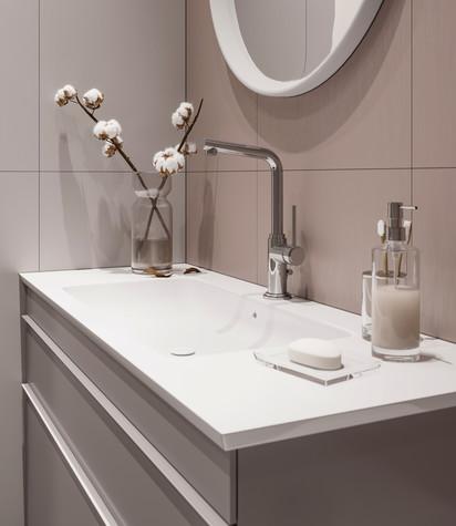 Квартира. ванная из проекта ЖК Сильвер, фото №99751