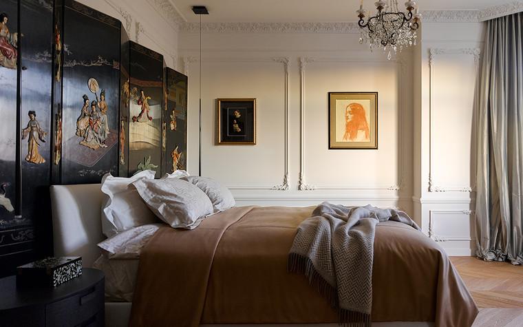 Квартира. спальня из проекта Квартира на Цветном бульваре, фото №99821