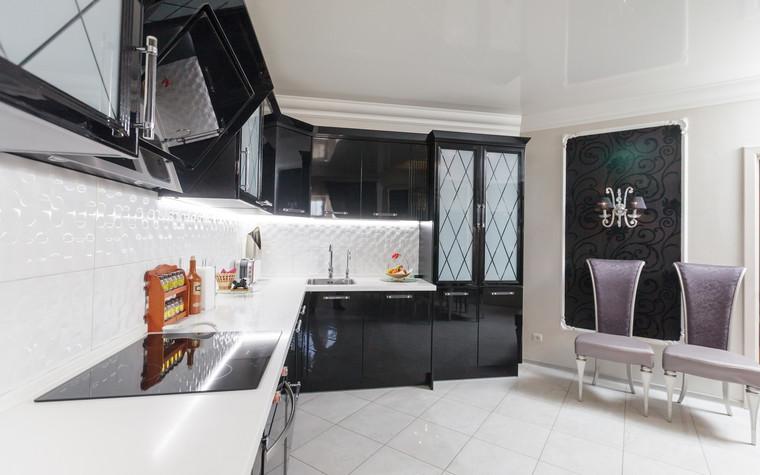 Квартира. кухня из проекта Стильный черный, фото №103070