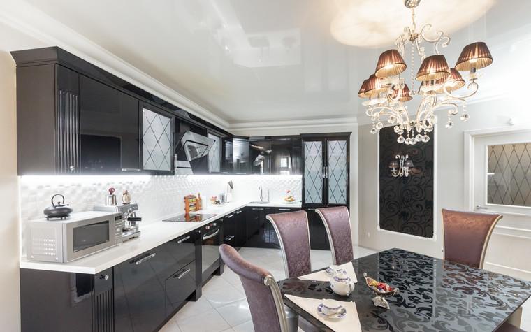 Квартира. кухня из проекта Стильный черный, фото №103075