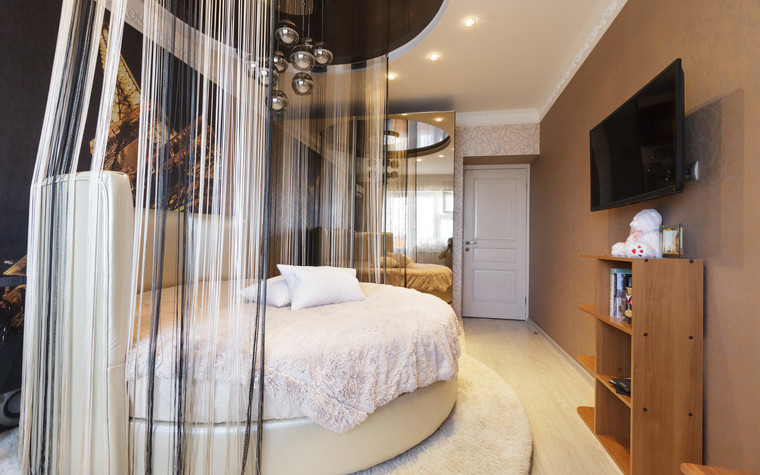 Квартира. спальня из проекта Стильный черный, фото №103079