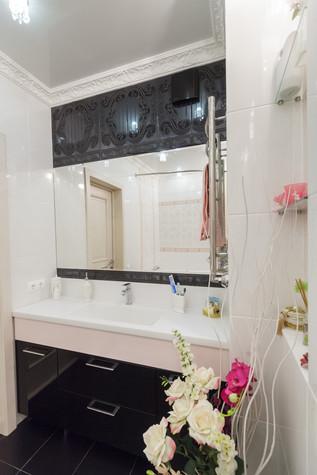 Квартира. ванная из проекта Стильный черный, фото №103089
