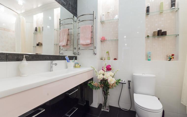 Квартира. ванная из проекта Стильный черный, фото №103092