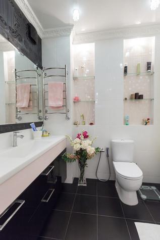 Квартира. ванная из проекта Стильный черный, фото №103093