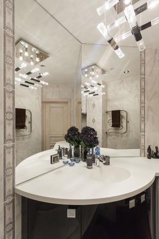 Квартира. ванная из проекта Стильный черный, фото №103094