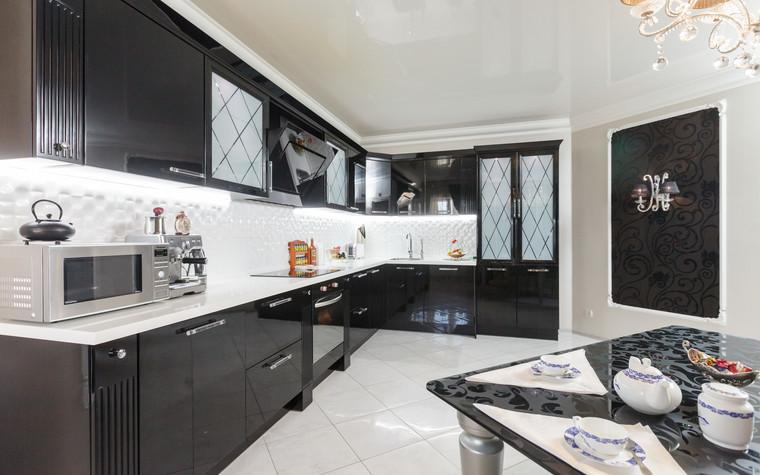 Квартира. кухня из проекта Стильный черный, фото №103071