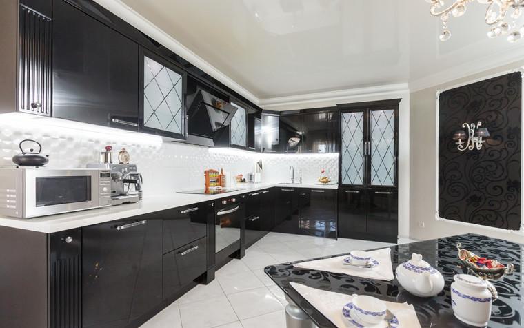 Квартира. кухня из проекта Стильный черный, фото №103072