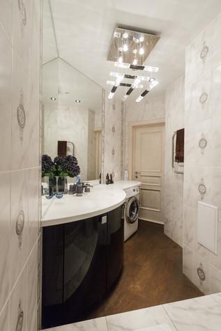 Квартира. ванная из проекта Стильный черный, фото №103095