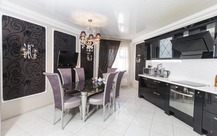 Квартира. кухня из проекта Стильный черный, фото №103073