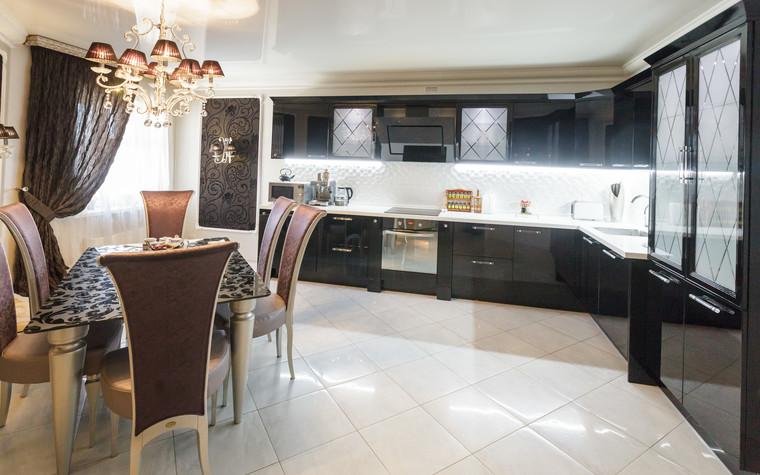 Квартира. кухня из проекта Стильный черный, фото №103074