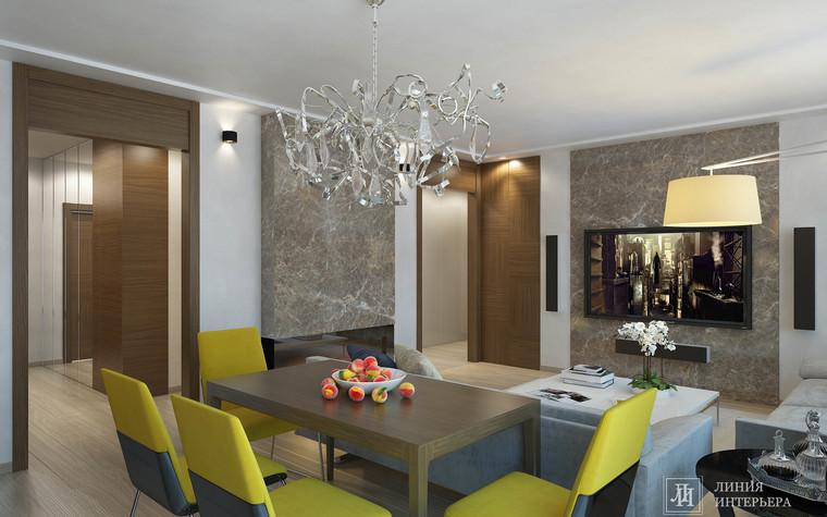 Квартира. гостиная из проекта Интерьер 3-х комнатной квартиры, фото №103206