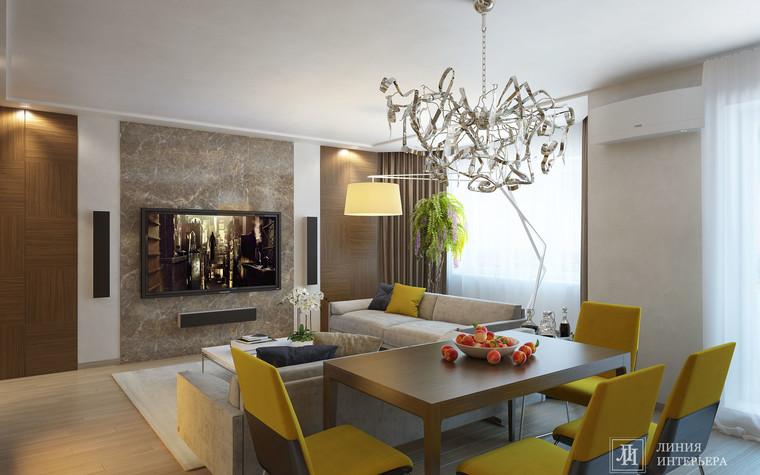 Квартира. гостиная из проекта Интерьер 3-х комнатной квартиры, фото №103207