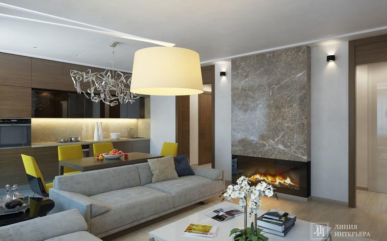 Квартира. гостиная из проекта Интерьер 3-х комнатной квартиры, фото №103209
