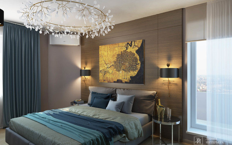 Квартира. спальня из проекта Интерьер 3-х комнатной квартиры, фото №103210