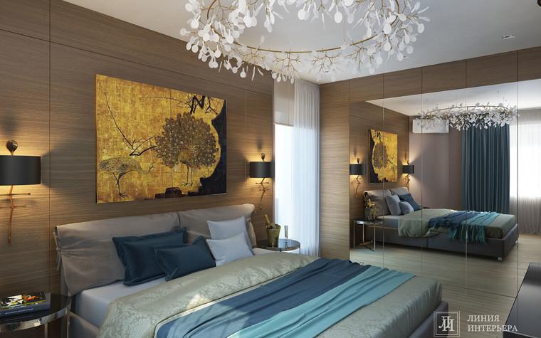 Квартира. спальня из проекта Интерьер 3-х комнатной квартиры, фото №103211