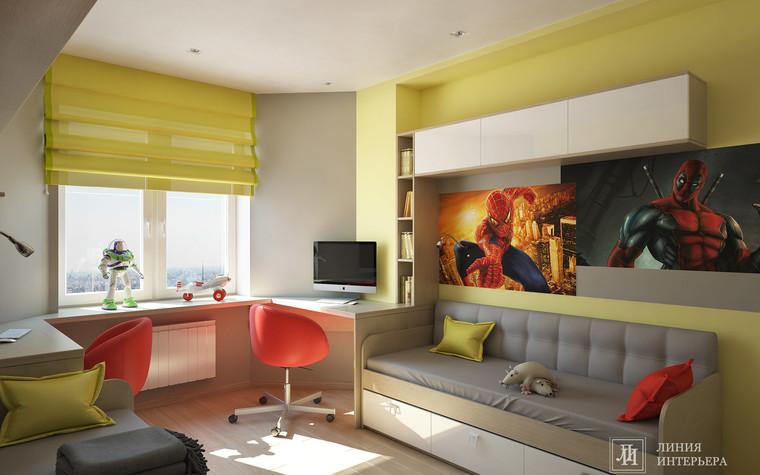 Квартира. детская из проекта Интерьер 3-х комнатной квартиры, фото №103213