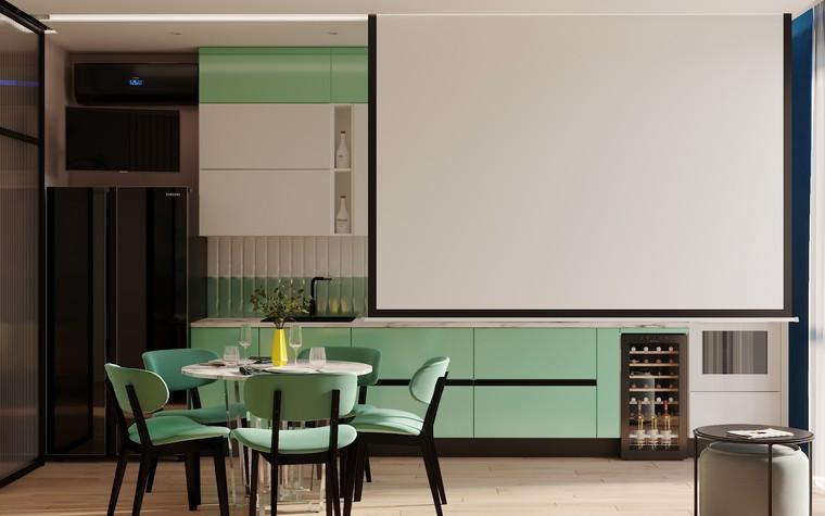 Квартира. кухня из проекта Графичный Soleray в ЖК Хорошевский., фото №104023