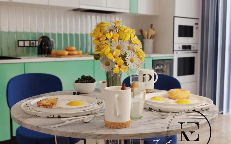 Квартира. кухня из проекта Графичный Soleray в ЖК Хорошевский., фото №104024
