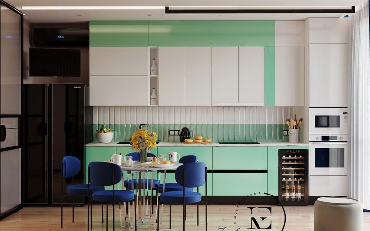 Квартира. кухня из проекта Графичный Soleray в ЖК Хорошевский., фото №104025