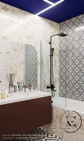 Квартира. ванная из проекта Графичный Soleray в ЖК Хорошевский., фото №104029