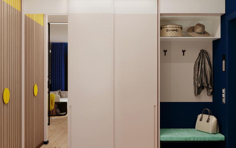 Квартира. прихожая из проекта Графичный Soleray в ЖК Хорошевский., фото №104037