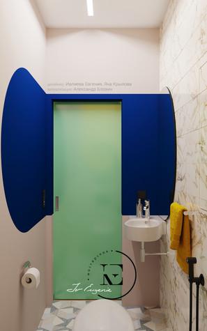 Квартира. санузел из проекта Графичный Soleray в ЖК Хорошевский., фото №104032