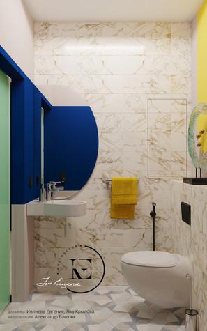Квартира. санузел из проекта Графичный Soleray в ЖК Хорошевский., фото №104033