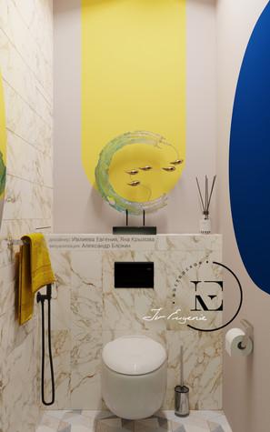 Квартира. санузел из проекта Графичный Soleray в ЖК Хорошевский., фото №104034