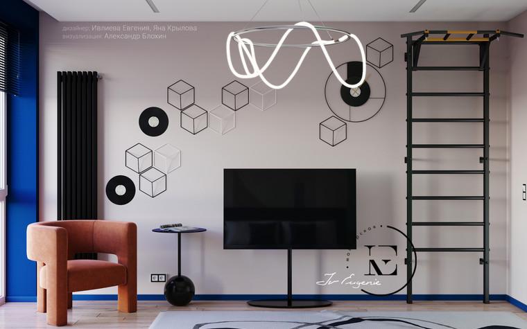 Квартира. спальня из проекта Графичный Soleray в ЖК Хорошевский., фото №104044