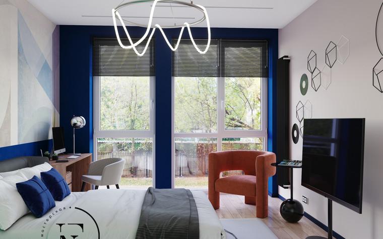 Квартира. спальня из проекта Графичный Soleray в ЖК Хорошевский., фото №104045