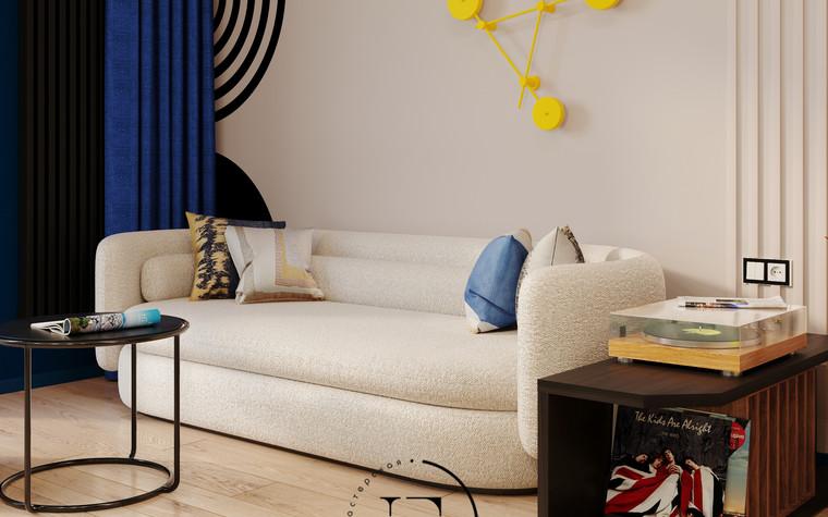 Квартира. гостиная из проекта Графичный Soleray в ЖК Хорошевский., фото №104027