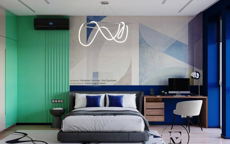 Квартира. спальня из проекта Графичный Soleray в ЖК Хорошевский., фото №104048