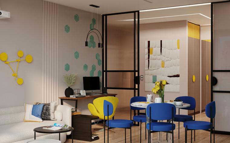 Квартира. гостиная из проекта Графичный Soleray в ЖК Хорошевский., фото №104028