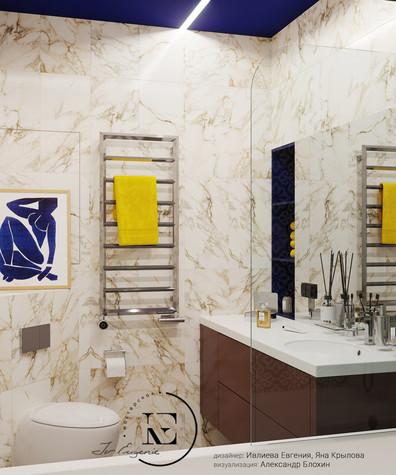 Квартира. ванная из проекта Графичный Soleray в ЖК Хорошевский., фото №104030