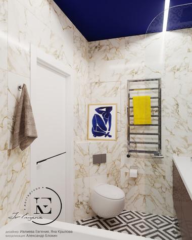 Квартира. ванная из проекта Графичный Soleray в ЖК Хорошевский., фото №104031