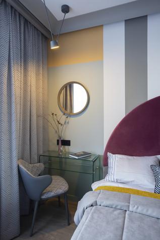 Квартира. спальня из проекта Цветом как звуком, фото №104062