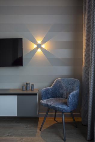 Квартира. спальня из проекта Цветом как звуком, фото №104064