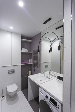 Квартира. ванная из проекта Цветом как звуком, фото №104079