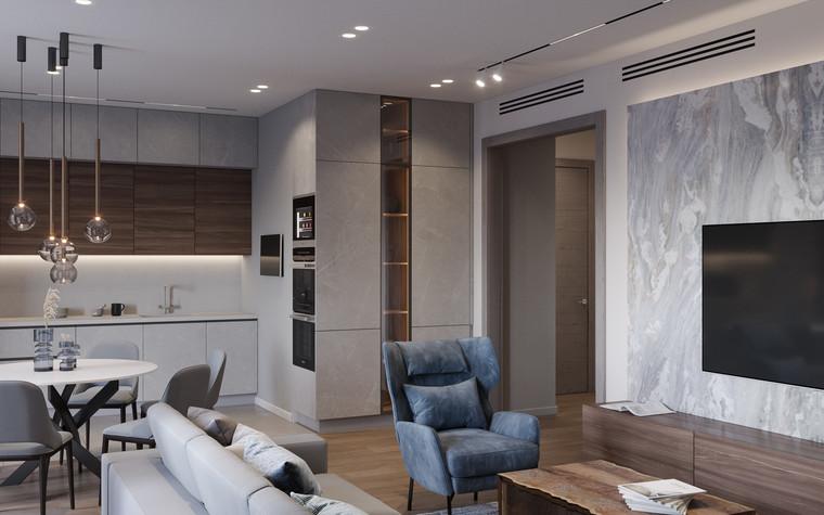 Квартира. гостиная из проекта Дизайн-проект квартиры, ЖК Зиларт, фото №104138
