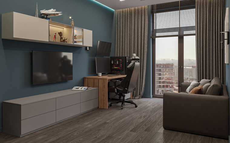 Квартира. кабинет из проекта Дизайн-проект квартиры, ЖК Зиларт, фото №104147