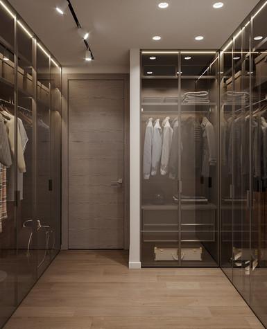 Квартира. гардеробная из проекта Дизайн-проект квартиры, ЖК Зиларт, фото №104150