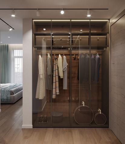 Квартира. гардеробная из проекта Дизайн-проект квартиры, ЖК Зиларт, фото №104151