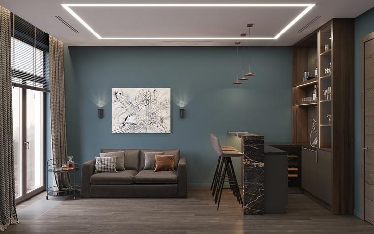Квартира. кабинет из проекта Дизайн-проект квартиры, ЖК Зиларт, фото №104148