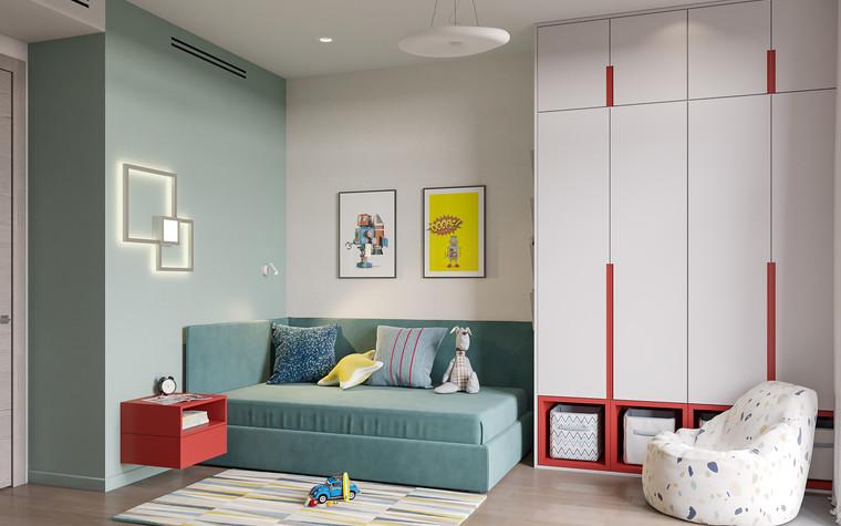 Квартира. детская из проекта Дизайн-проект квартиры, ЖК Зиларт, фото №104152