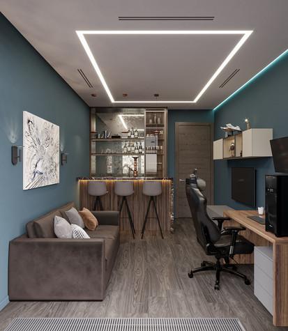 Квартира. кабинет из проекта Дизайн-проект квартиры, ЖК Зиларт, фото №104149