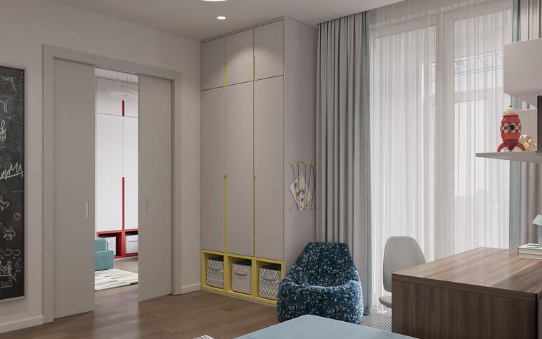 Квартира. детская из проекта Дизайн-проект квартиры, ЖК Зиларт, фото №104154