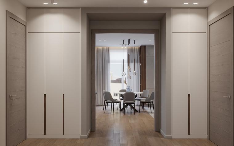 Квартира. прихожая из проекта Дизайн-проект квартиры, ЖК Зиларт, фото №104155