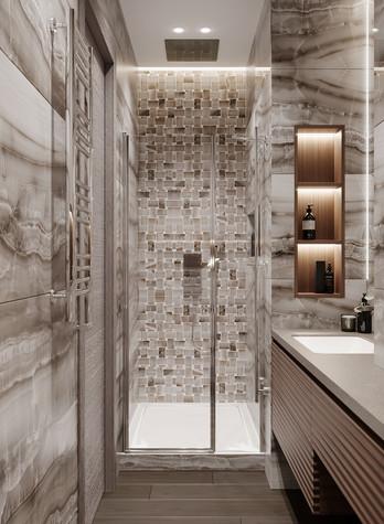Квартира. ванная из проекта Дизайн-проект квартиры, ЖК Зиларт, фото №104156