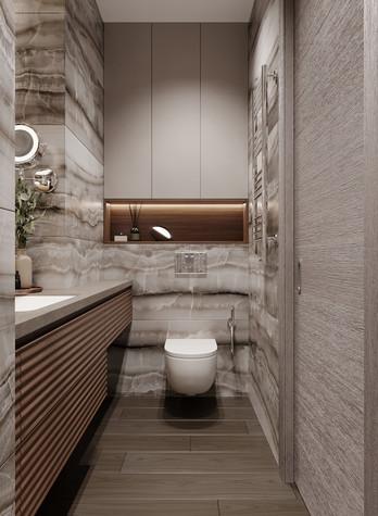Квартира. ванная из проекта Дизайн-проект квартиры, ЖК Зиларт, фото №104157